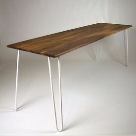 Walnut Dining Table, Hairpin Legs, Industrial table, Eames, Mid-century, Bespoke, Made to Order