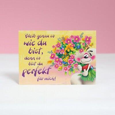 Diddl Postkarte Blumengruß