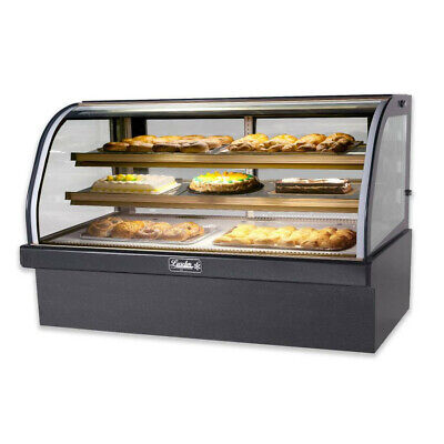 Two Leader Marble Bakery Display Cases With Curved Glass. Excellent Condition