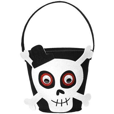HALLOWEEN TOTENKOPF TASCHE KINDER Betteltasche Beutel  Kostüm - Kinder Halloween Zubehör