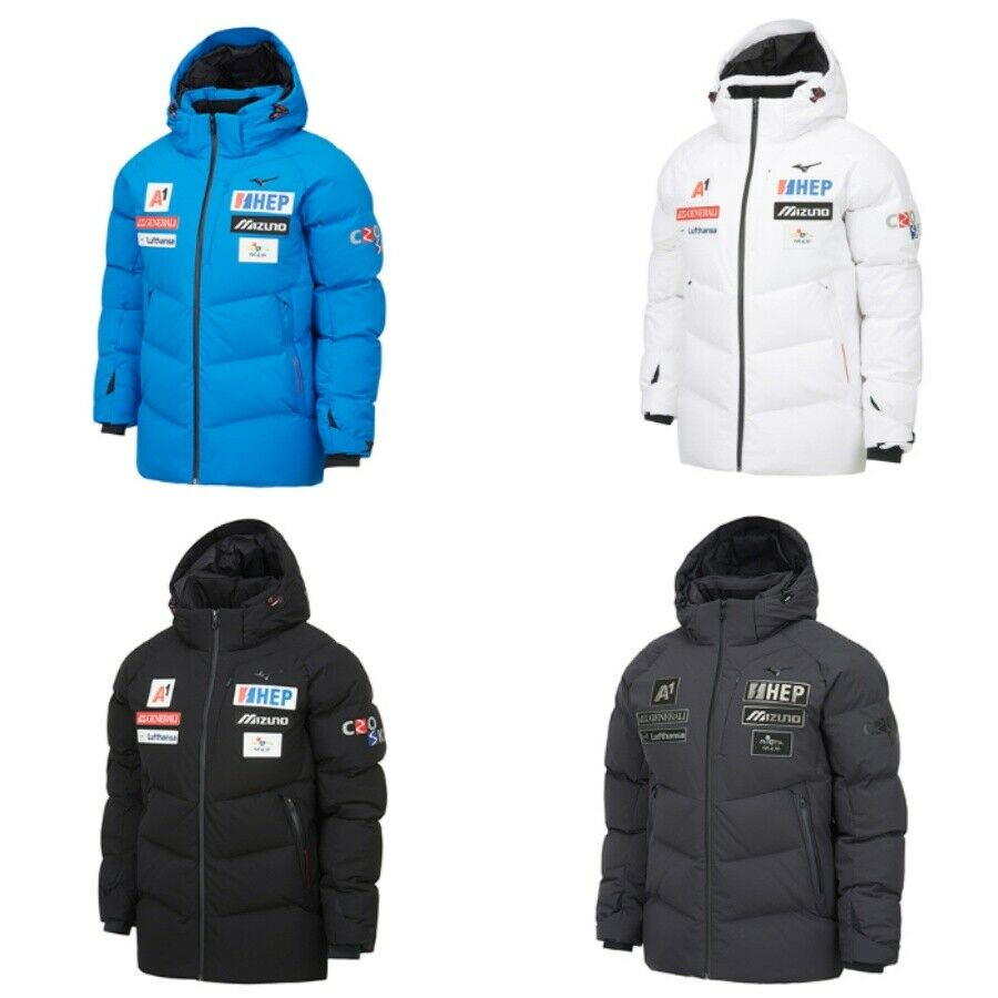 Details about MIZUNO CRO Ski 2019 MID Down Jacket 32YE9672 Winter White Black Charcol XS XXL
