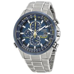 "Citizen Men's AT8020-54L ""Blue Angels"" Stainless Steel Eco-Drive"