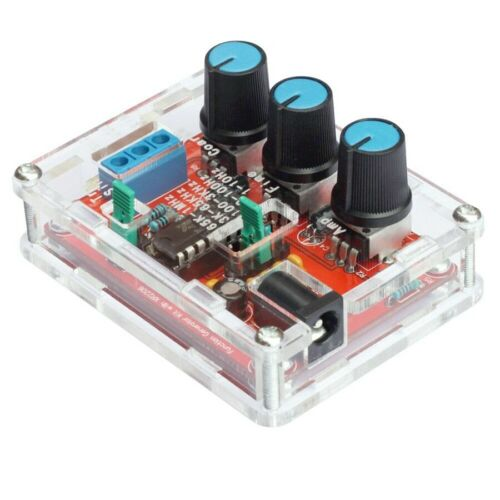 XR2206 Function Signal Generator DIY Kit Sine Output 1HZ-1MHZ  acrylic case N259