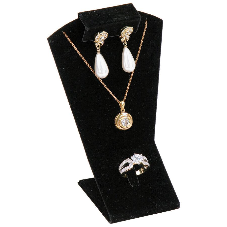 black combination display earring pendant ring mini