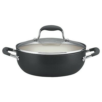 Anolon Advanced Pewter Hard Anodized Nonstick 3.5 Quart Covered Casserole Pan Non-stick Covered Casserole