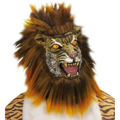 LATEX TIGER MASKE Karneval Löwen Katzen Dschungel Afrika Kostüm Party Deko 8383