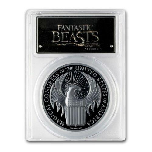 2017 $5 Cook Isles Fantastic Beasts 1 oz. .999 Blk Silver Proof PCGSPR70DCAM FS