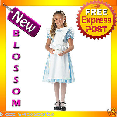 Alice In Wonderland Dress Up (CK22 Alice in Wonderland Child Fancy Dress Up Party Girls Halloween Costume)