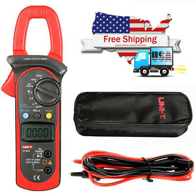 Uni-t Ut203 Digital Handheld Clamp Multimeter Tester Meter Ce Ac Dc Volt Us Ship