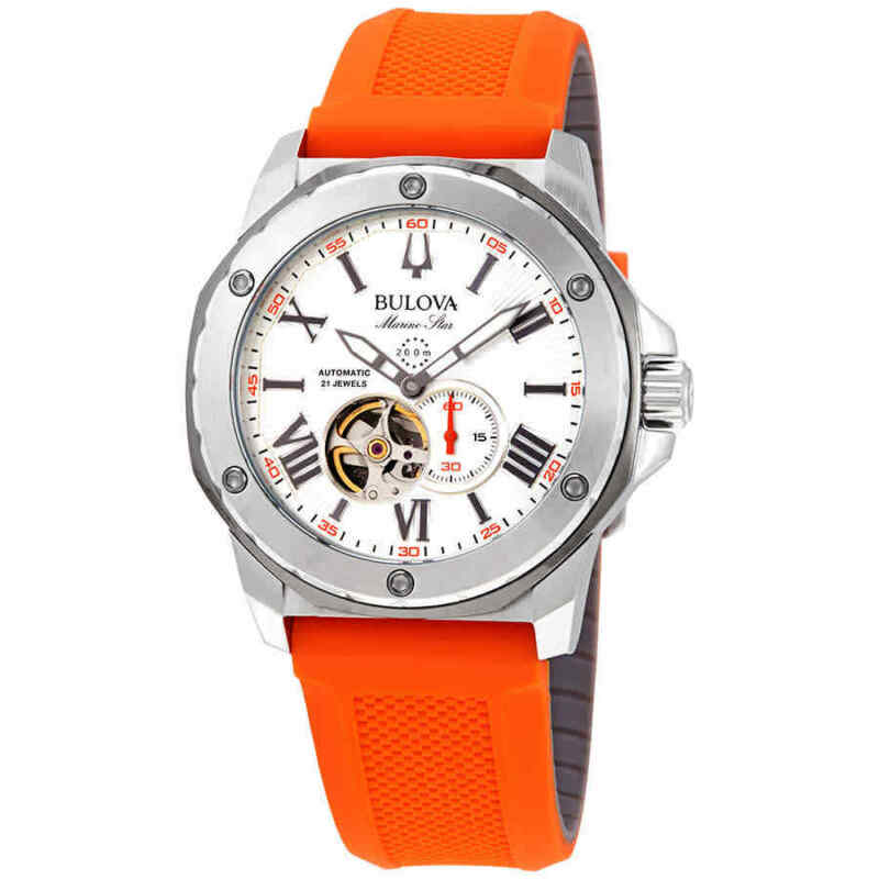 Bulova Marine Star Automatic Silver Dial Men Watch 98A226