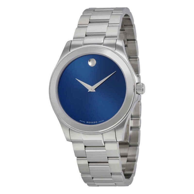 Movado Junior Sport Blue Dial Stainless Steel Men Watch 0606116