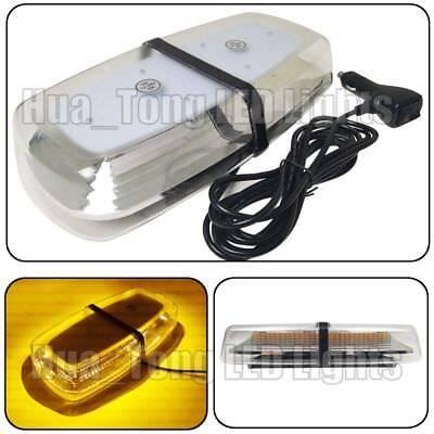 72 Smd Led Amber Flash Beacon Emergency Warn Mini Roof Strobe Light Bar 12 24V