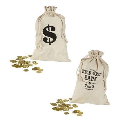 WESTERN BANK GELDSACK # Dollar Sack Goldsack Cowboy Sheriff Kostüm Zubehör 8712