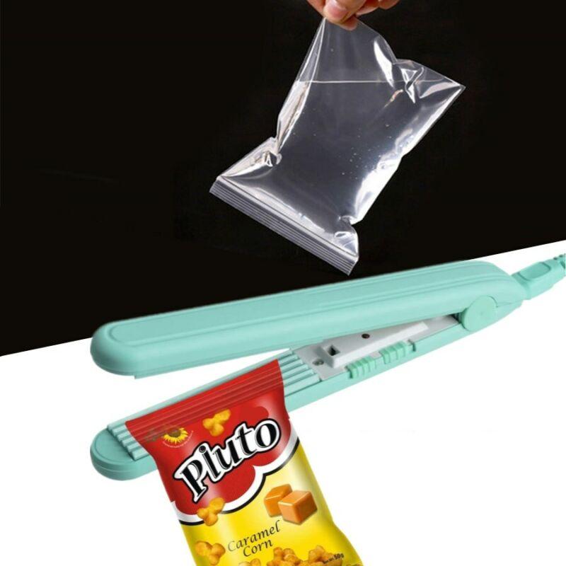 Mini Heat Sealing Machine Plastic Poly Bags Sealer Quick Portable Household Easy