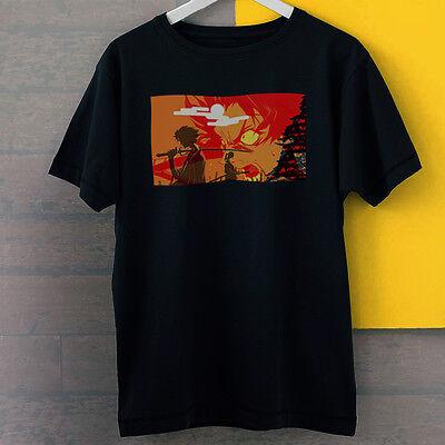 (Mugen Samurai Champloo Fight Spirit Anime Art New Black Tees T-Shirt S-3XL)