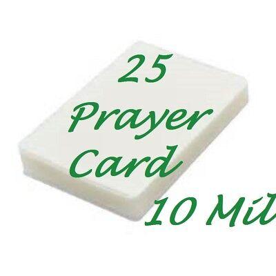 25 Prayer Card Laminating Laminator Pouches Sheets 10 Mil 2-34 X 4-12 Scotch Q