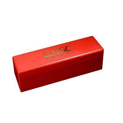 OFFICIAL RED AND GOLD NGC CERTIFIED COIN HOLDER STORAGE BOX HOLDS (Certified Gold Coin)