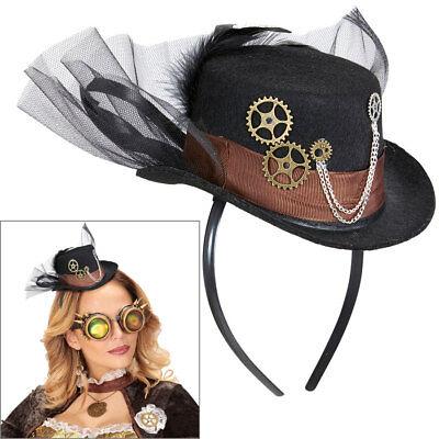 STEAMPUNK MINI HUT Retro Viktorianischer Zylinder Wave Gothic Kostüm Party - Mini Zylinder Kostüm