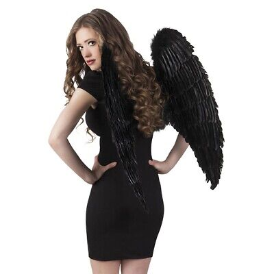 SCHWARZE XXL ENGELSFLÜGEL # Riesige Große Engel Teufel Flügel Kostüm Party - Großen Schwarzen Kostüm
