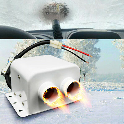 1x 800W 2 Outlet Ceramic Car Underdash Heater Windshield Defroster w/ Switch 12V