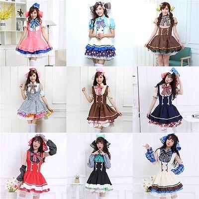 Lovelive! Love Live! Candy Cosplay Costume Maidservant Dress Uniform Full - Candy Dress Kostüm