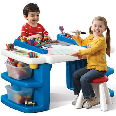 Step2 Build and Store Kids Activity Table Art Desk With Storage