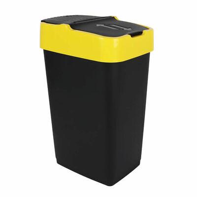 Abfalleimer mit Schwingdeckel - 60 L - Mülleimer Abfallbehälter Abfallsammler