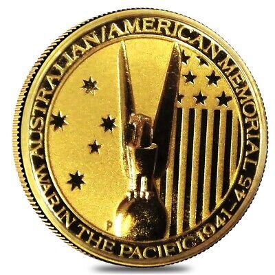 2013 Australia 1/10 oz Gold $15 War in the Pacific Coin BU In Cap Australia Gold Coin