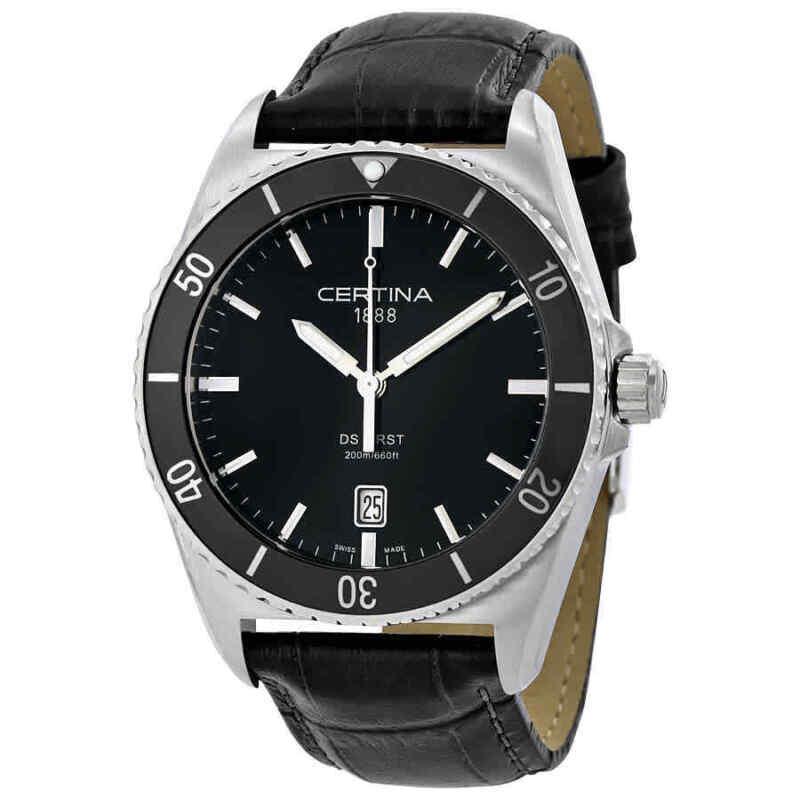 Certina DS First Ceramic Black Leather Men Watch C0144101605100