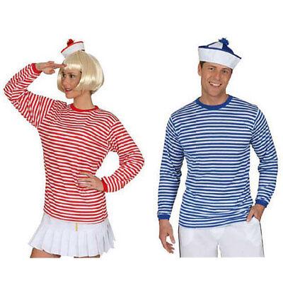 Shirt Pulli gestreift Ringelpulli blau weiß rot weiß Clown Matrose Seemann
