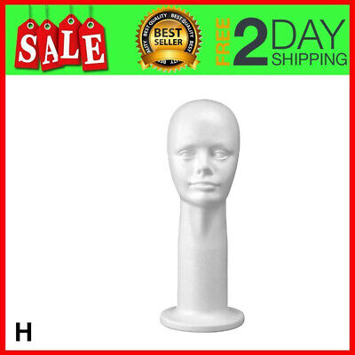 17 Inch Styrofoam Head Wig Head Mannequin Manikin Style Model Display