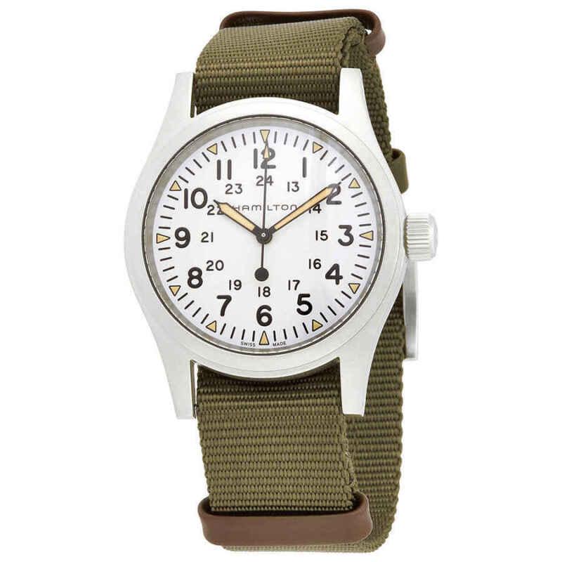 Hamilton-Khaki-Field-Mechanical-White-Dial-Men-Watch-H69439411