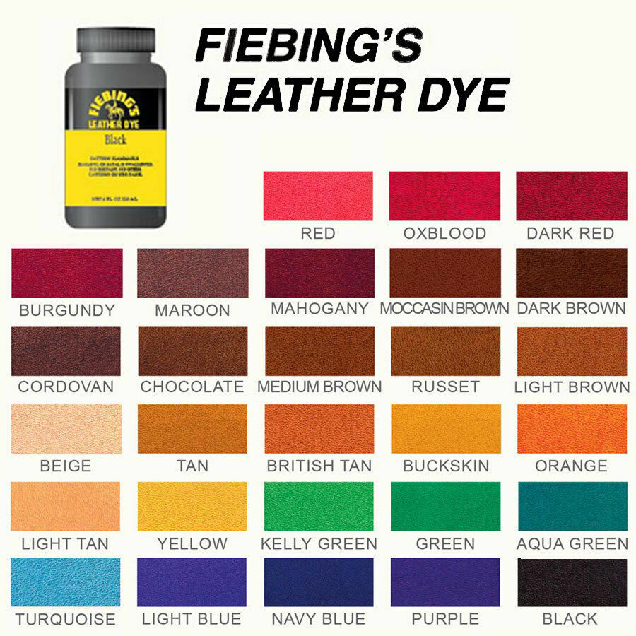 Fiebing's Leather Dye W/ Applicator For Shoes, Boots, Bags, Couches (All Colors) Crafts