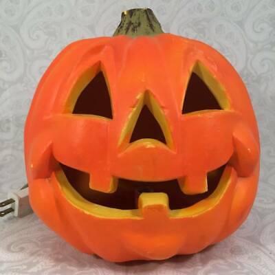 RARE Vtg Seasons Zauder's Light Up Foam Blow Mold Jack O Lantern Pumpkin Smiley