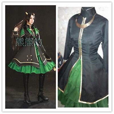 NEW Thor The Avengers Loki Laufeyson Female Dress Cosplay Costume Custom Made