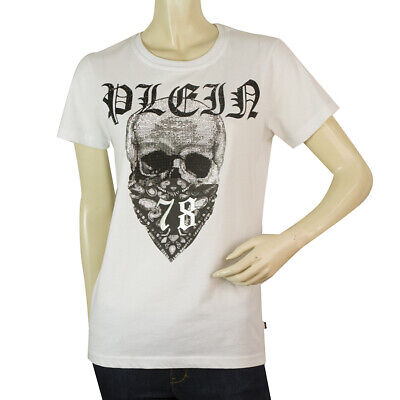 Philipp Plein Junior White Skull Top Cotton T - Shirt for boys or girls 14 - 15