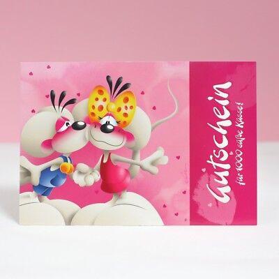 Diddl Postkarte Mäuseküsschen