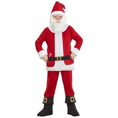 KINDER NIKOLAUS KOSTÜM # Weihnachtsmann Weihnachten Jungen Anzug Mütze Bart 0876 ()