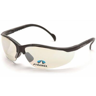 Pyramex V2 Reader Bifocal Safety Glasses - Black Frame And Indooroutdoor Lens