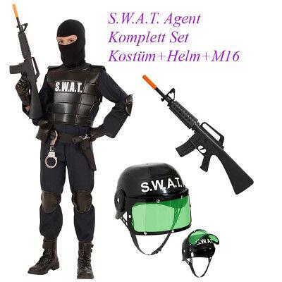 SWAT KOSTÜM SET KINDER Karneval Fasching Polizei Polizist - Polizei Kostüm Männlich