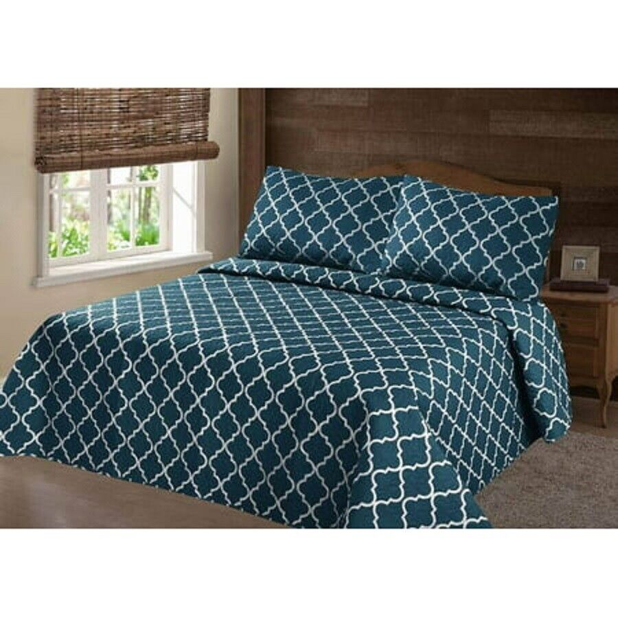 ALL SIZES TURQUOISE Bedding Bedspread Coverlet Pillowcases &