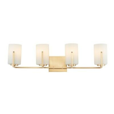 Maxim Lighting Dart 4-Light Bath Vanity, Satin Brass - 21284SWSBR Satin Brass Bath Light
