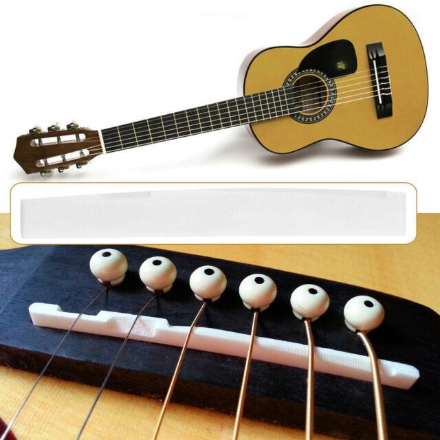 Buffalo Bone Bridge Saddle Replacement Parts For 6 String Acoustic Guitar OG