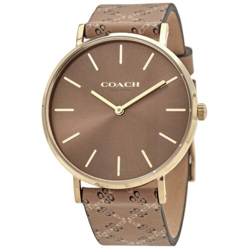 Coach Perry Quartz Brown Dial Men's Watch 14503441 Jewelry & Watches