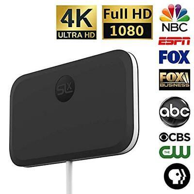 SLx TV Antenna Ultra Compact for Digital TV Indoor 4K HD wit