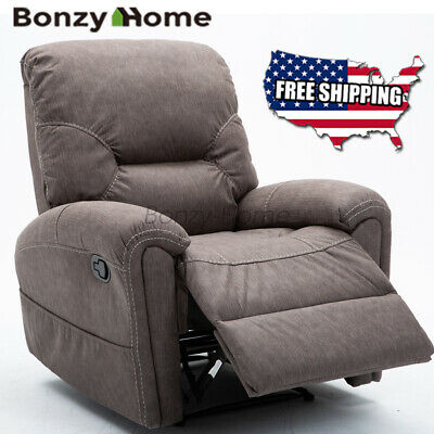 Manual Recliner Chair Classic Padded Durable Lounge Sofa Overstuffed Padded -