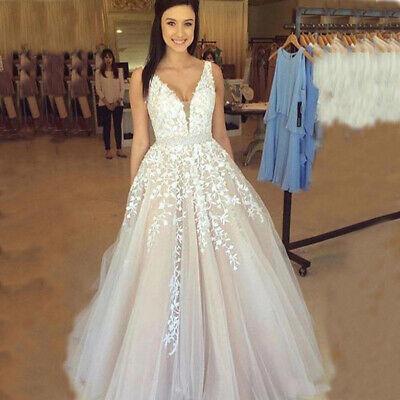 Vintage Bohemian Wedding Dresses V Neck Lace Applique A-line Beach Bridal Gown