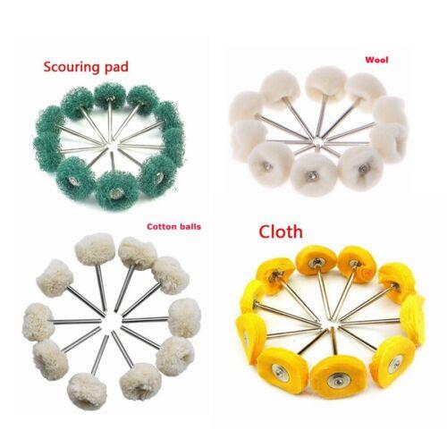 10x Polishing Wheels for Dremel Rotary Buffing Tool Wool Cloth Brush Cotton A711