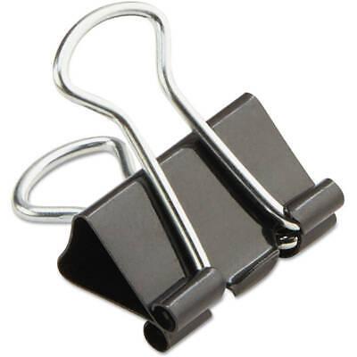 Mini Binder Clips Steel Wire 14 Capacity 12 Wide Blacksilver 36pack