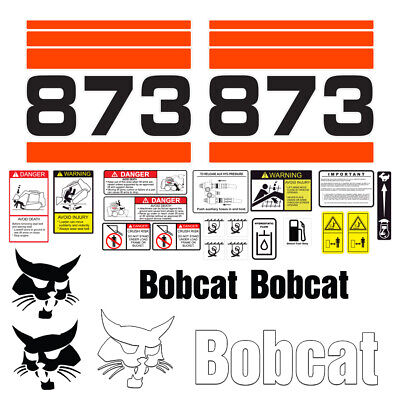 Bobcat 873 Skid Steer Set Vinyl Decal Sticker - 25 Pc - Free Shipping